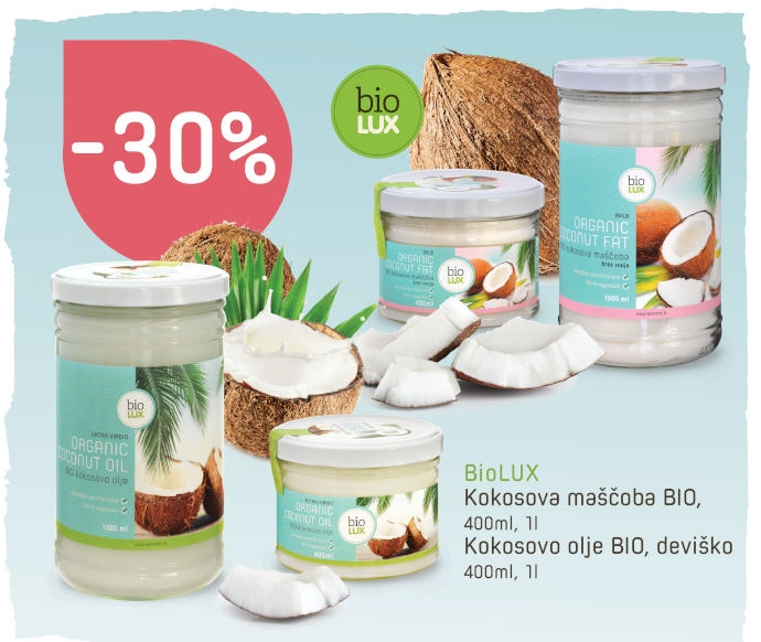 Biolux kokosovo maslo