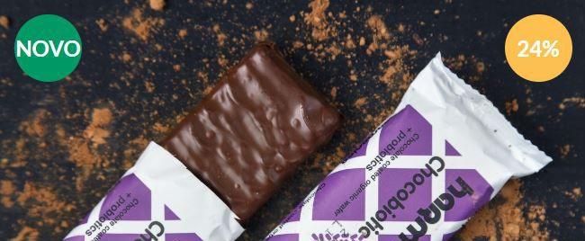 Hrustljav vafelj Chocobiotic prelit s čokolado bio 40g - Harmonica
